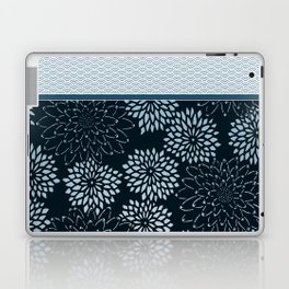 Dahlia Scallops Grey Blue Laptop & iPad Skin