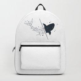 Shark. Geometric style Backpack