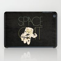 space cat iPad Cases featuring Space Cat by Koning