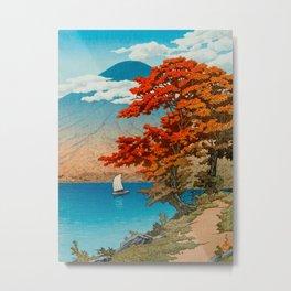 Lake Chuzenji at Nikko by Kawase Japanese Woodblock Print Vintage East Asian Cultural Art Metal Print