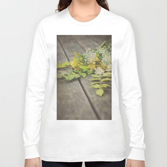 Rustic Fall Flowers Long Sleeve T-shirt