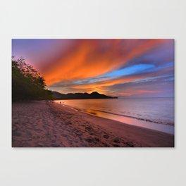 Sunset in Costa Rica Canvas Print