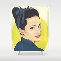 lipstick Shower Curtains featuring Lipstick by FalcaoLucas