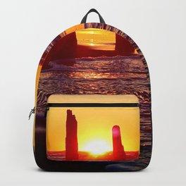 Stunning sunset through the sticks Backpack