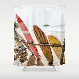 Surfing Day 2 Shower Curtain