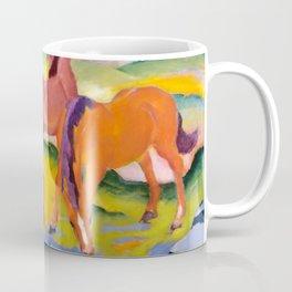 "Franz Marc ""Grazing Horses IV (The Red Horses)"" Coffee Mug"