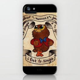 I Love to Singa iPhone Case