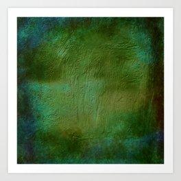 Shades of Deep Green Texture Art Print