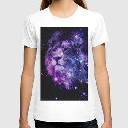 leo lion purple blue T-shirt