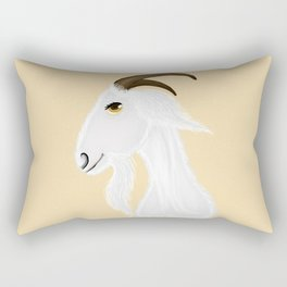 White goat head Rectangular Pillow