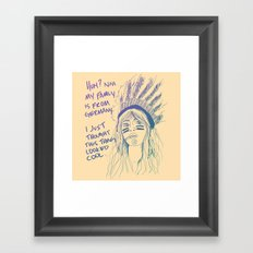 Attention Whore - Color Framed Art Print
