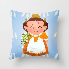 Fallera Throw Pillow