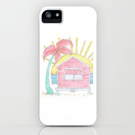 Beach Shack Vibes iPhone Case