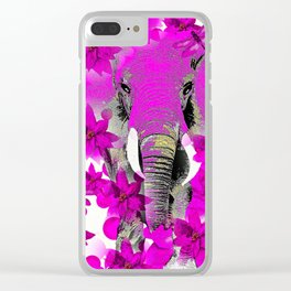 Elephant #66 Clear iPhone Case