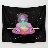 meditation Wall Tapestries featuring Meditation #SOCIETY6 #CHAKRAS by JadeRose