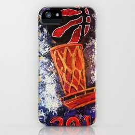 raptors 2,champion,basketball,gold,poster,wall art,2019,winners,NBA,finals,toronto,canada,painting iPhone Case