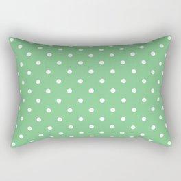 Sage Polka Dots Rectangular Pillow