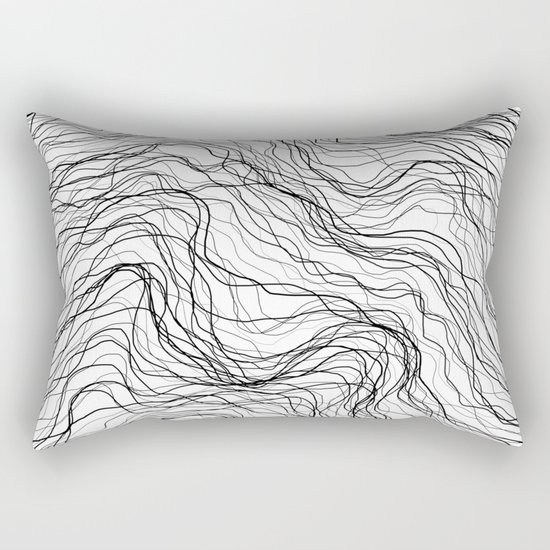 Black veins Rectangular Pillow