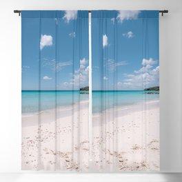Caribbean Sea I Blue color I Tropical beach I Turqoise sea print art I Curacao I Island beach paradise photography print I Ocean blue I Blue Curacao I Portmarie I dream blue beach Blackout Curtain