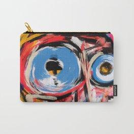 Art brut outsider underground graffiti portrait Carry-All Pouch