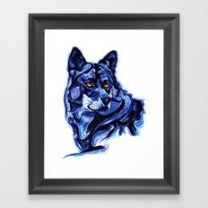 Blue Wolf Framed Art Print