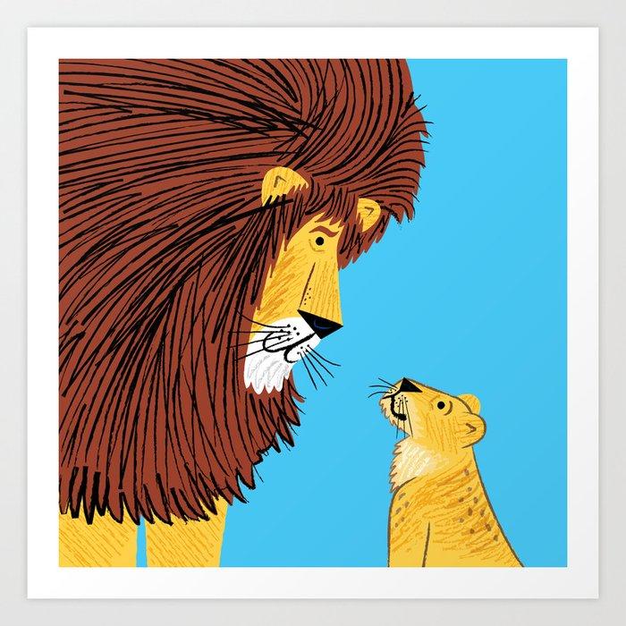Listen To The Lion Art Print