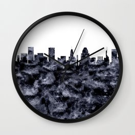Baltimore Skyline Maryland Wall Clock
