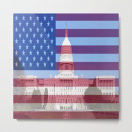 United States Capitol Building Metal Print