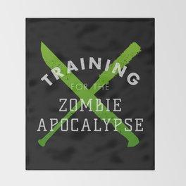 Training: Zombie Apocalypse Throw Blanket