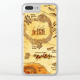 map kingdom Clear iPhone Case