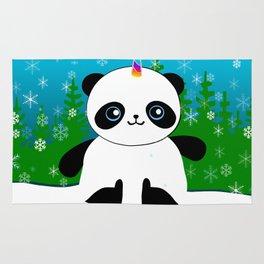 Pandacorn in a Snowglobe Rug