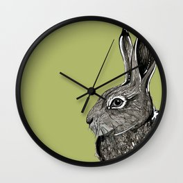 Woodland Hare Wall Clock