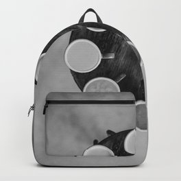 Coffee Circle (Black and White) Backpack