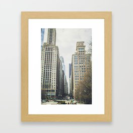Chicago street Framed Art Print