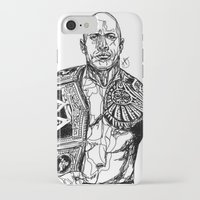 allyson johnson iPhone & iPod Cases featuring Dwayne 'The Rock' Johnson by Hollie B