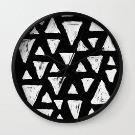 Pyramides black version Wall Clock