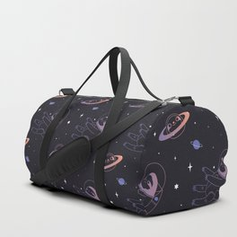 Astro sloth and planet sloth pattern Duffle Bag