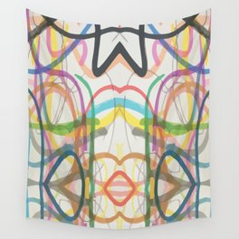 scribble, scribble on the wall Wall Tapestry