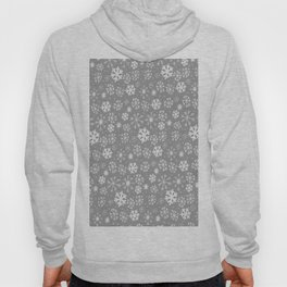 Snowflake Snowstorm In Silver Grey Hoody