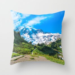 A Hike in the Mountains Throw Pillow