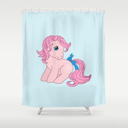 g1 my little pony Cotton Candy Shower Curtain