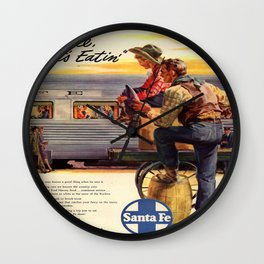 Vintage poster - Gee, that's Eatin' Wall Clock