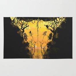 Dark Desert Cow Skull Rug