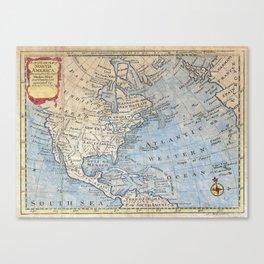 Vintage Map of North America (1747) Canvas Print