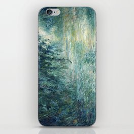 1898-Claude Monet-Morning on the Seine- 73 x 91 iPhone Skin
