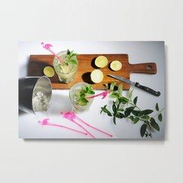 Mojito cocktails Metal Print