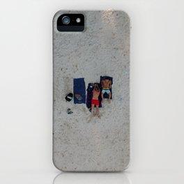 Aerial Beach Towels iPhone Case
