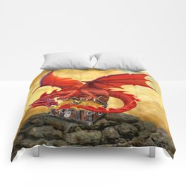Red Dragon's Treasure Chest Comforters
