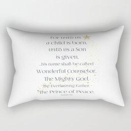 Isaiah 9:6 Rectangular Pillow