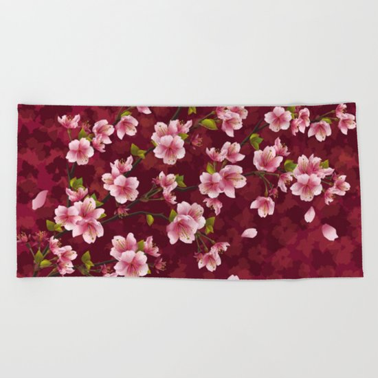 Cherry blossom #12 Beach Towel